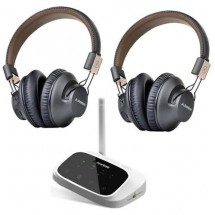 Auriculares Inalambricos Tv Vincha Bluetooth Recargables Set