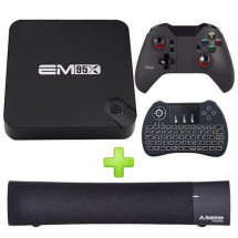 Conversor Smart Tv Box Combo Auriculares Joystick Bluetooth