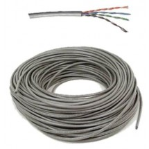 Cable Utp Cat. 5e, 24 Awg, Cca, Solid, Gris 100 Mts Lta003