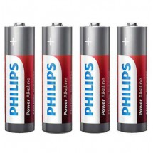 Pila Aa No Recargable Philips Alcalina 1.5v Blister X4 A001