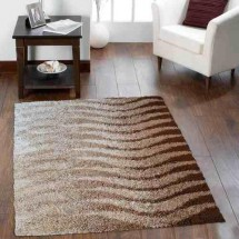Alfombra Moderna Shaggy Living City Brown 200x290 Cm | Dib