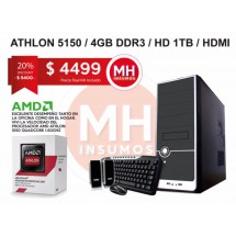 Pc Cpu Armada Amd Athlon 5150 Radeon 4gb 1TB 12 Cuotas x $ 375