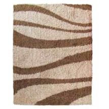 Alfombra Moderna Shaggy Living City Brown 200x290 Cm |