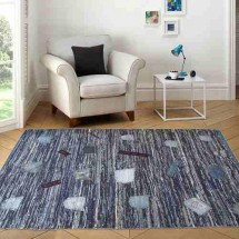Alfombra Living Diseño Denim 200x290 Cm | Dib Carpet & Home