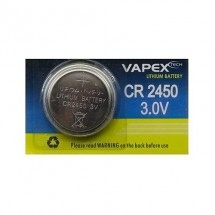 Pila De Litio Cr2450 Vapex 3v 620 Mah 24,5x5mm C008
