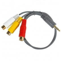 Cable Audio 3.5mm A 3 Rca Hembra X 0.3mts - Lta069