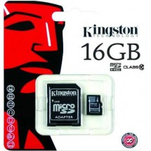 Memoria Micro Sd 16gb Kingston Clase 10 Ventas Por Mayor