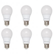 Pack 6 Lamparas Led 40w 5,3w E27 Bulbo Verbatim Calida Fria