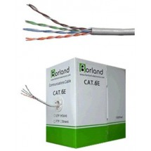 Cable Utp Cat. 6e, 24 Awg, Cca, Solid, Gris 305m Lta004