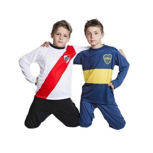Pijama Invierno Boca Juniors Futbol Equipo Oficial Niños a  360. El ... 50e4ec56e81