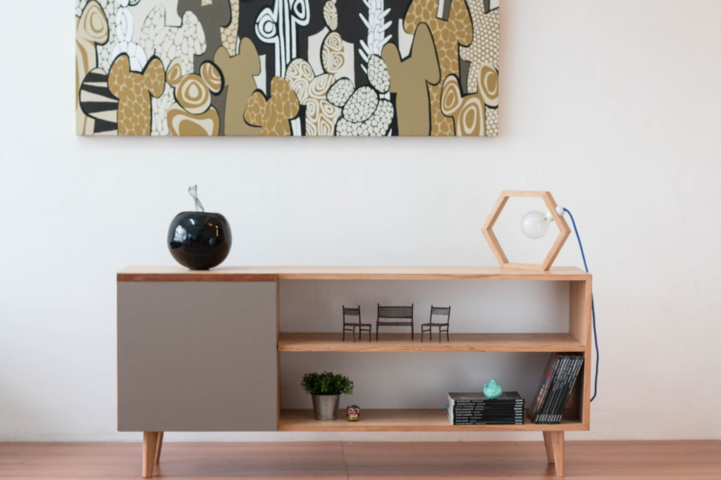 Mueble para tv madera paraiso estilo moderno a 5 580 el for Muebles para television de madera modernos