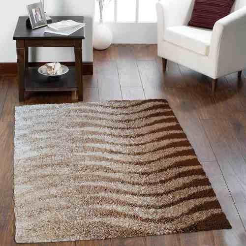 alfombra moderna shaggy living city brown 200x290 cm dib - Alfombra Moderna