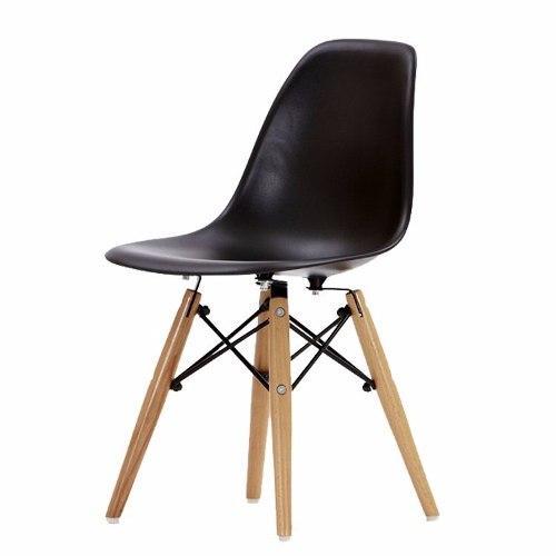 silla de comedor diseo eames patas de madera rosario