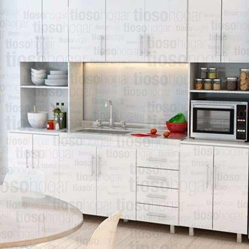 Muebles Cocina Completo 140 120 Bajo Mesada Bacha Alacena