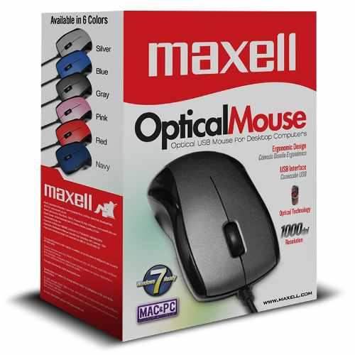 Mouse Optico Usb Maxell Mowr-101 Negro