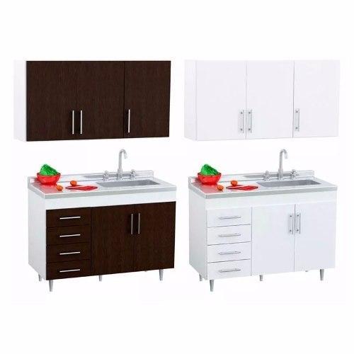 Combo cocina centro 140 bajo mesada alacena bacha acero a 4,180 ...