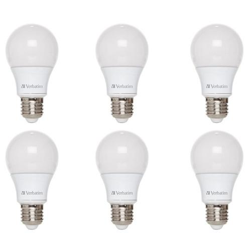 Pack 6 Lamparas Led 60w 9w E27 Bulbo Verbatim Calida Fria