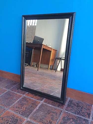 Espejo Con Marco De Madera Artesanal Negro Oferta!! a $849. El Mejor ...