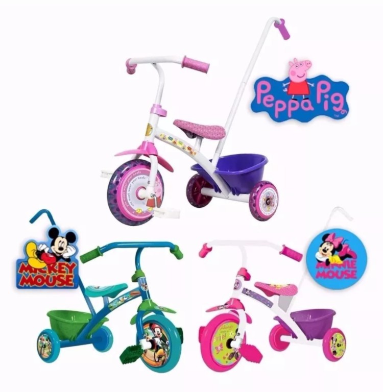 Triciclo Infantiles Mickey- Minnie Little Peppa Pig